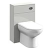 Turin Light Grey 500x200mm WC Unit Only profile small image view 1