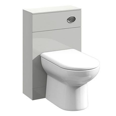Turin Light Grey 500x200mm BTW Toilet Unit Inc. Cistern + Round Pan