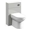 Turin Light Grey 500x200mm BTW Toilet Unit Inc. Cistern + Round Pan profile small image view 1
