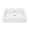 Milton 600 x 460 Wall Hung Rectangular Basin (0 Tap Hole) profile small image view 1