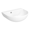 Milton 440 x 365 Wall Hung Curved Basin (0 Tap Hole) profile small image view 1