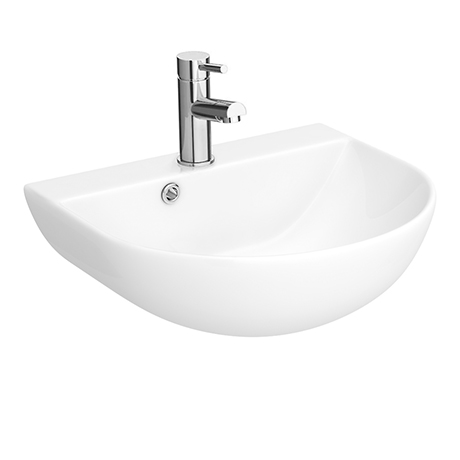 Milton 440 x 365 Wall Hung Curved Basin (1 Tap Hole)