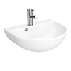 Milton 440 x 365 Wall Hung Curved Basin (1 Tap Hole) profile small image view 1