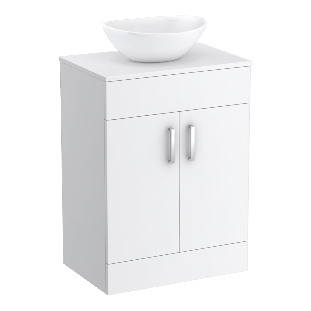 Turin 605mm Vanity Unit with Casca Counter Top Basin