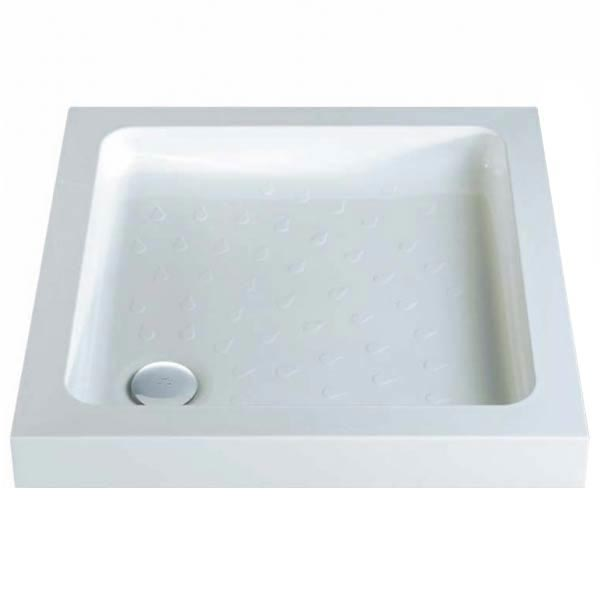 MX - Classic Flat Top Square Stone Resin Shower Tray + Free Waste profile large image view 1
