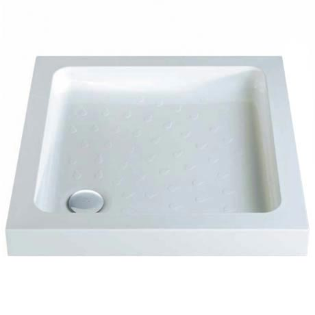 MX - Classic Flat Top Square Stone Resin Shower Tray + Free Waste