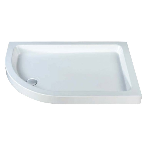 MX - Classic Flat Top Offset Quadrant Shower Tray w free waste - Left hand Large Image