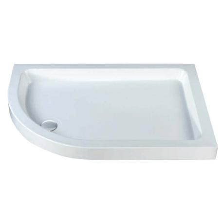 MX - Classic Flat Top Offset Quadrant Shower Tray w free waste - Left hand