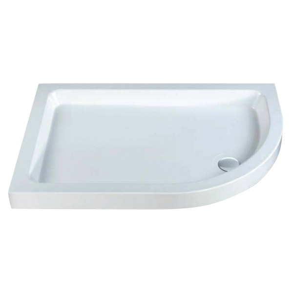 MX - Classic Flat Top Offset Quadrant Shower Tray w free waste - Right hand Large Image