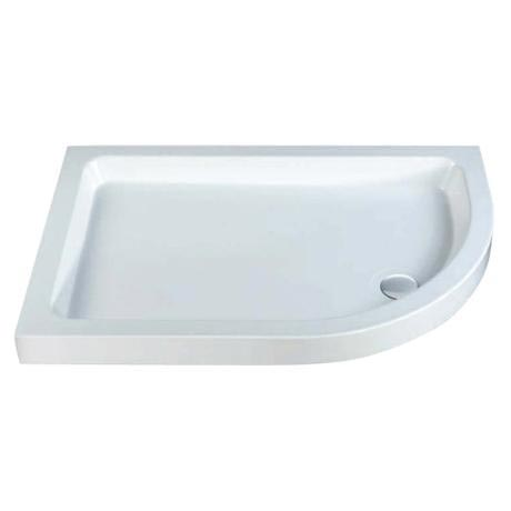 MX - Classic Flat Top Offset Quadrant Shower Tray w free waste - Right hand