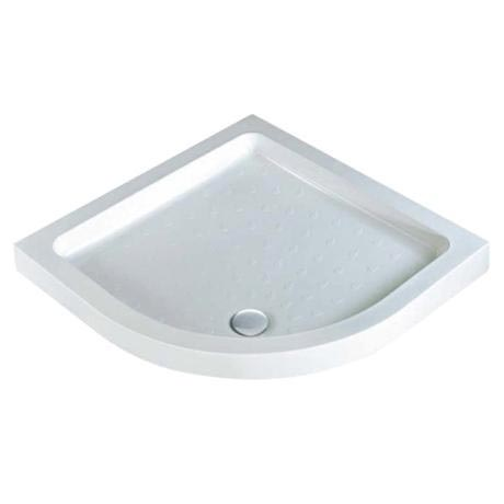 MX - Classic Flat Top Quadrant Stone Resin Shower Tray with free waste