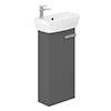Britton MyHome Cloakroom Floor Standing Vanity Unit - Grey profile small image view 1