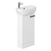 Britton MyHome Cloakroom Floor Standing Vanity Unit - White profile small image view 1