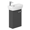 Britton MyHome Cloakroom Wall Hung Vanity Unit - Grey profile small image view 1