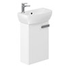 Britton MyHome Cloakroom Wall Hung Vanity Unit - White profile small image view 1