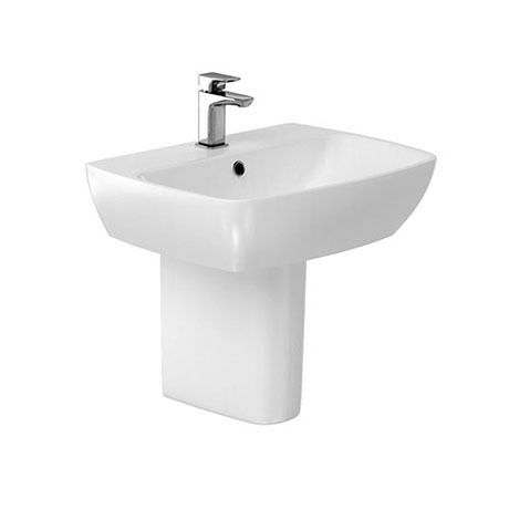Britton MyHome 55cm Basin with Semi Pedestal
