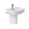 Britton MyHome 55cm Basin with Semi Pedestal profile small image view 1