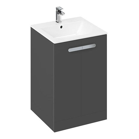 Britton MyHome 600mm Floor Standing 2-Door Vanity Unit - Grey