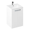Britton MyHome 600mm Floor Standing 2-Door Vanity Unit - White profile small image view 1