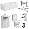 Mayford Complete Modern Bathroom Package profile small image view 1