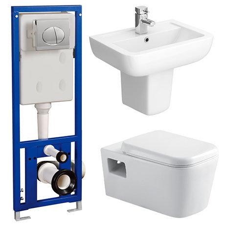 Monza Wall Hung Bathroom Suite