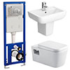 Monza Wall Hung Bathroom Suite profile small image view 1