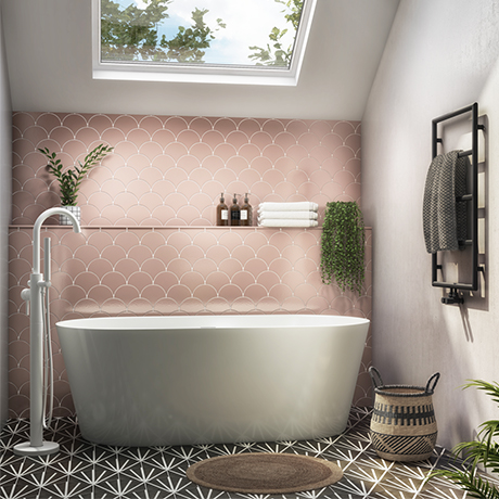 Monza 1680 x 800 Double Ended Free Standing Bath
