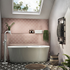 Monza 1700 x 800 Curved Double Ended Free Standing Bath profile small image view 1
