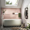 Monza 1700 x 800 Double Ended Free Standing Bath profile small image view 1