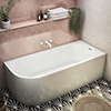 Monza 1700 x 750 Curved Free Standing Corner Bath profile small image view 1