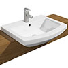 Monza 550mm Semi-Recessed Basin - 1 Tap Hole profile small image view 1