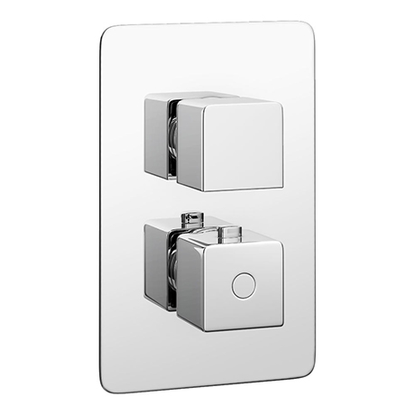 Monza Low Pressure Concealed Twin Shower Valve with Built-In Diverter