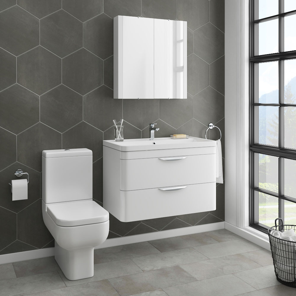 Monza Vanity Unit & Modern Toilet Package