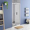 Monza 1000 x 1900 Bi-Fold Shower Door profile small image view 1