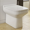 Monza Square Back To Wall Toilet + Soft Close Seat profile small image view 1