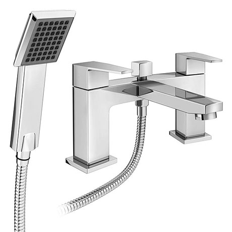 Monza Curved Modern Bath Shower Mixer Tap + Shower Kit