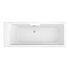 Monza 1700 x 700 Single Ended Bath with Curved Tap Ledge profile small image view 1