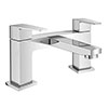 Monza Curved Modern Bath Tap profile small image view 1