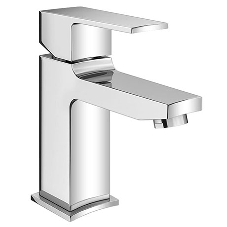 Monza Curved Modern Basin Mixer Tap + Waste