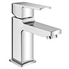 Monza Curved Modern Basin Mixer Tap + Waste profile small image view 1