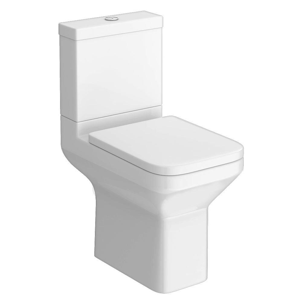 Monza Square Short Projection Toilet + Soft Close Seat