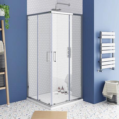 Monza 800 x 800mm Square Corner Entry Shower Enclosure