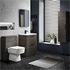 Monza Grey Avola Floor Standing Vanity Bathroom Furniture Package profile small image view 1