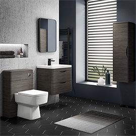 Monza Grey Avola Wall Hung Vanity Bathroom Furniture Package