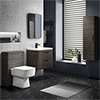 Monza Grey Avola Wall Hung Vanity Bathroom Furniture Package profile small image view 1