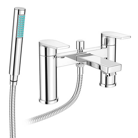 Monza Round Modern Bath Shower Mixer Tap + Shower Kit