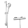 Monza Cool Touch Thermostatic Bar Valve + Slider Rail Kit profile small image view 1