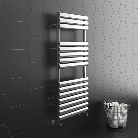 Monza 500 x 1120 Stainless Steel Oval Heated Towel Rail
