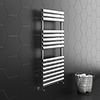 Monza 500 x 1120 Stainless Steel Oval Heated Towel Rail profile small image view 1