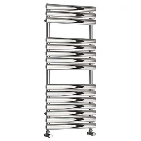 Monza Modern 1120 x 500 Stainless Steel Heated Towel Rail